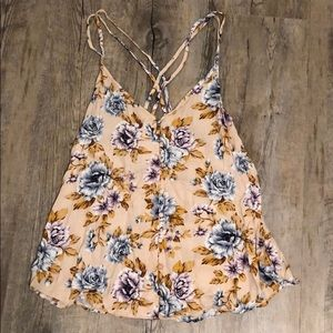 Flower American Eagle Tank Top